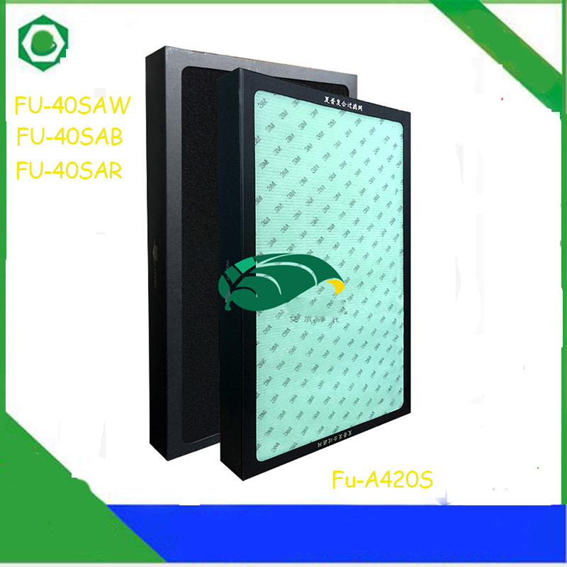 FU-A420S Replacement Filter Dust Collection Heap Filter for Sharp FU-A420S FU-40SAW FU-40SAB FU-40SAR Air Purifier 1set replacement heap carbon filter for sharp air purifier fu 888sv fu p60s fu 4031nas 39 31 3 5cm 39 31 1cm