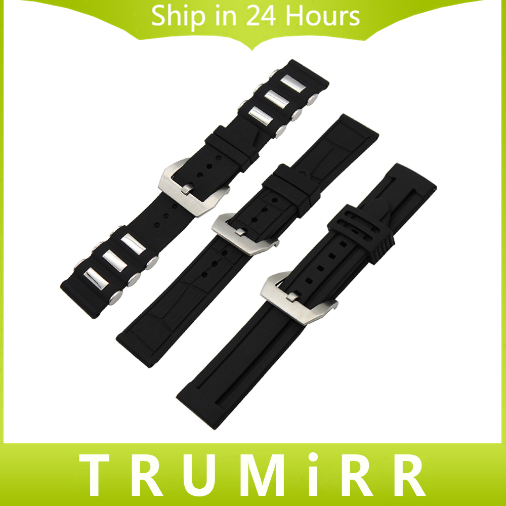 22mm 24mm Silicone Rubber Watchband for Tissot 1853 Watch Band 316L Brush Stainless Steel Buckle Strap Wrist Belt Bracelet Black curved end genuine leather watchband for tissot 1853 watch band butterfly clasp strap wrist bracelet black brown 22mm 23mm 24mm