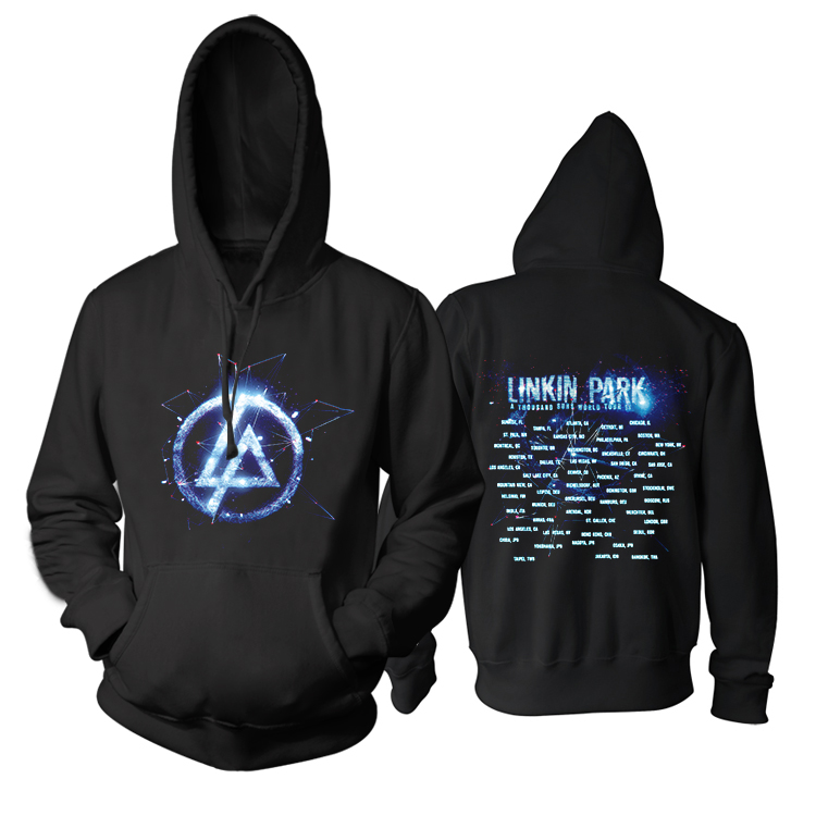 Free shipping 2014 Linkin Park Living Things rock emo concert tour SWEAT hoodie