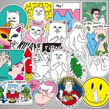 50 шт./лот rip n dip граффити мультфильм Ripndipp наклейки Дети Скрапбукинг скейтборд водонепроницаемый ПВХ ноутбук багаж наклейки пакет