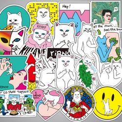 """Rip N Dip Pizza Cat Sticker 3/"""" Inches Full Color Water Proof"""