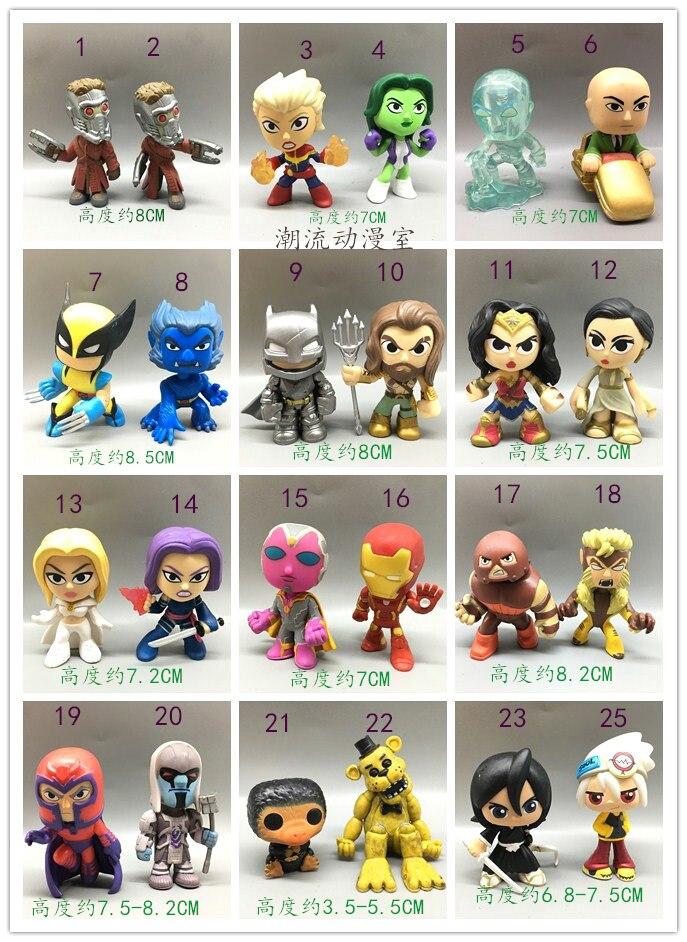 Оригинальный Funko тайна Minis: Galaxy Star-Lord Wolverine Аквамен Wonder Woman видения виниловые цифры Коллекционная модель свободные Игрушечные лошадки