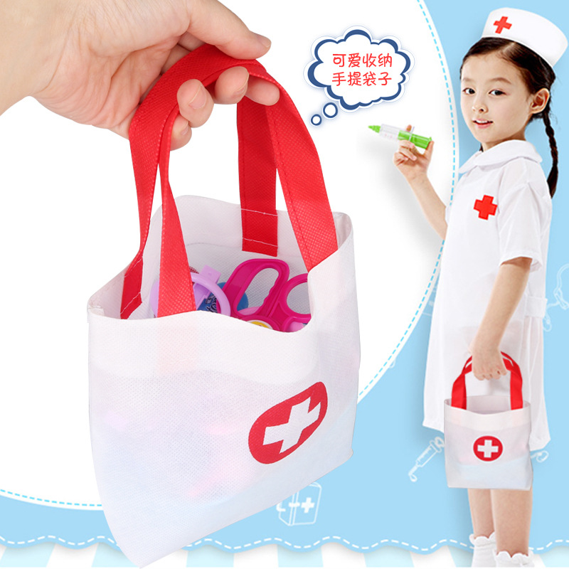 New Children's Puzzle Play House Boy And Girl Doctor Toy Accessories Simulation Portable Nurse Medicine Bag Storage Bag