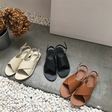 Women Summer Sandals 2019 Roman Retro Flat Sandals Beach Casual Open Toe Sandals Women Buckle Strap Shoes prova perfetto sheepskin thick bottomed summer sandals women retro style hollow out buckle strap casual shoes romen flat sandals