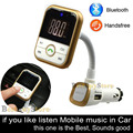 2016 Super Bluetooth Car Kit Handsfree Set FM Transmitter music Player 5V 2.1A USB Car charger Support SD Card & U disk 1G - 32G