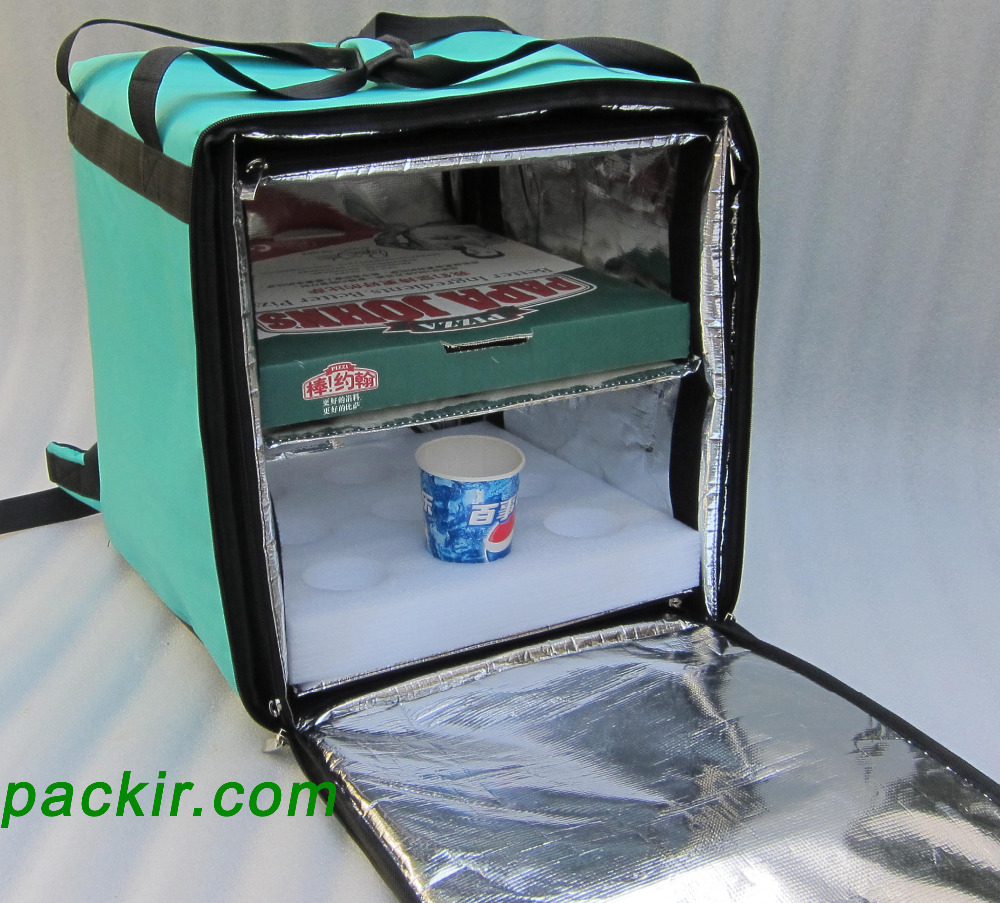 Us 89 0 Pk 76f Pizza Delivery Bags Insulated Bag Take Out Box Food With Divider Keep Hot 16