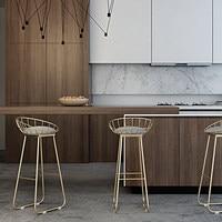 Simple Bar Stool Wrought Iron Bar Chair Stool Bar Tabouret De Bar Gold High Stool Modern Dining Chair Nordic Golden Furniture