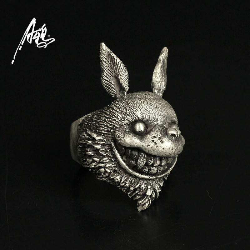 Personnaliser Animal Tonari pas de Totoro anneau Hayao Miyazaki Anime 925 bijoux en argent pour les filles petite amie cadeau de noël Unique