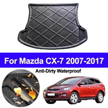 Car Rear Trunk Mat Cargo Tray Boot Liner Carpet Protector Floor Pad Mats For Mazda CX-7 CX7 2007 - 2012 2013 2014 2015 2016 2017 image