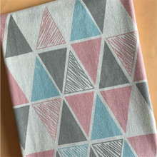 Printed Cotton Linen Fabric Geometric Patterns Canvas Material Patchwork For DIY Sewing Quilting