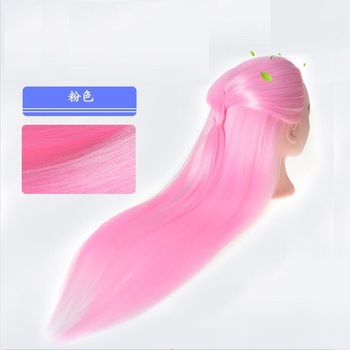 1PC Sale Synthetic Hairdressing Hair Training Salon Model Fake Female Mannequin for Make Pink Hairstyle Fashion Fishtail Braids