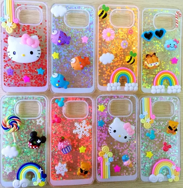 more photos 7abb7 a06bc US $7.48 |Dynamic Liquid Glitter Sand Love Quicksand Star Case For Samsung  Galaxy S6 G9200 s6 edge G9250 Crystal Clear Phone Back Cover on ...