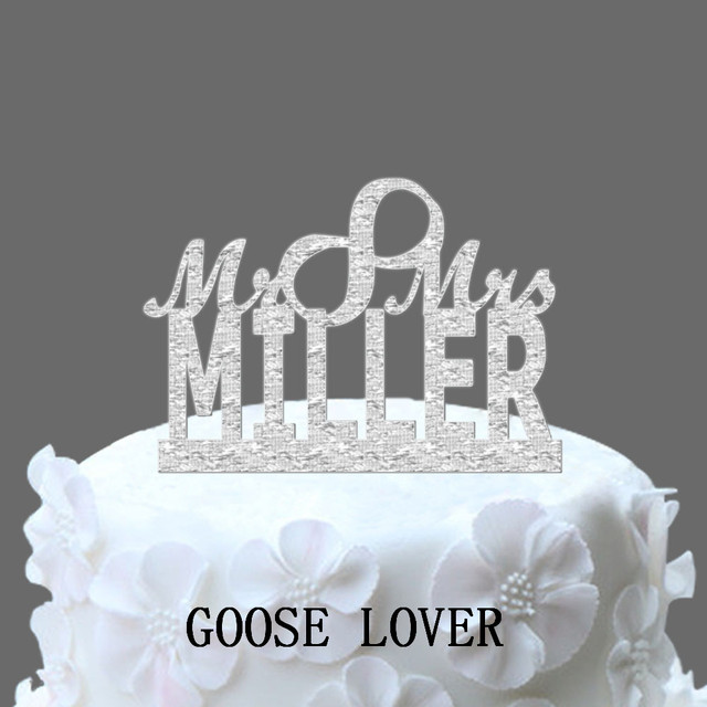 Vintage Cake Topper Personalized Name Wedding Cake Topper Monogram