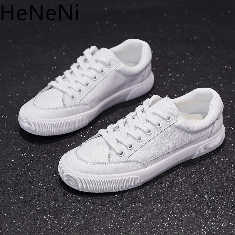 2018 Spring New Fashion Women shoes Casual High Platform Hole Genuine Leather Simple women Casual White