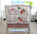 Promotion! Kitty Mickey 62*52cm Multifunctional Baby Bed Hanging Storage Bag Newborn Crib Organizer Bags,baby bedding set
