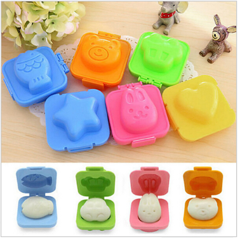 6pcs/set Cartoon Sushi Maker Kitchen DIY Chef Rice Ball Bento Mould Boiled Egg /Rice Roll Mold Kitchen Accessories image