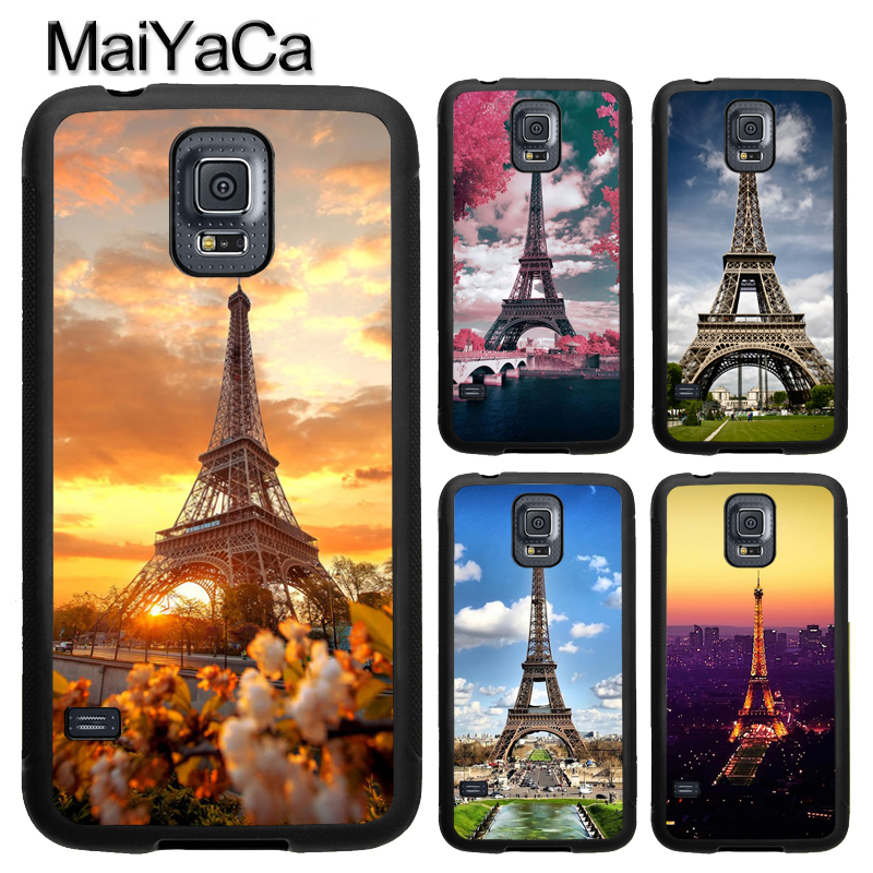 MaiYaCa Eiffel Tower Night Paris France Phone Case For Samsung Galaxy S9 S8 Plus S4 S5 S6 S7 edge Note 8 5 TPU Cover Skin Shell
