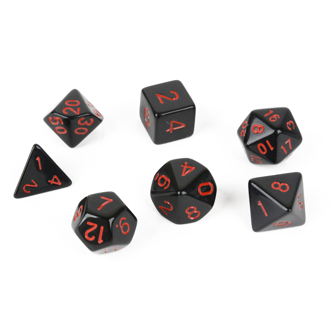 High Quality 7Pcs / Set Acrylic Multi-sidet TRPG Game Dungeons og Dragons Board Game Dice D4-D20 til Home KTV Play Gaming