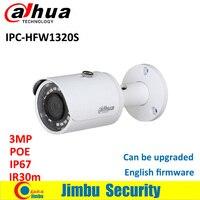 Gốc DAHUA IPC-3MP camera IP IPC-HFW1320S Đạn IR 30 M 1080 P ngoài trời không thấm nước full HD POE CCTV an ninh máy ảnh có thể được cập nhật