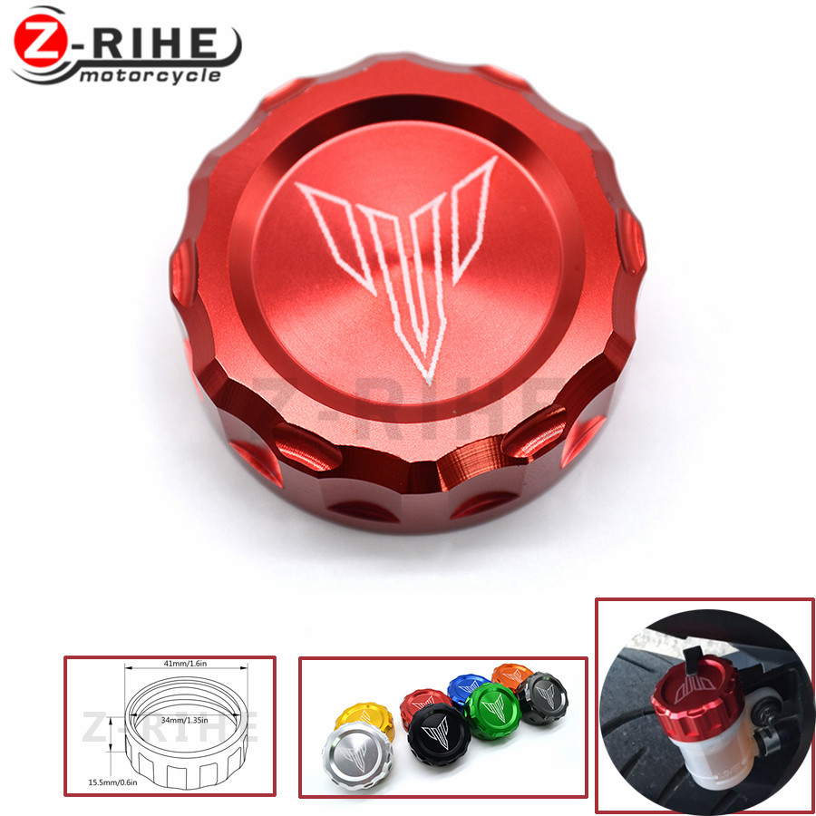 FOR Customized logo Motorcycle Cylinder Reservoir Cover Brake Fluid Reservoir Cap Cover For MT09 tracer FZ09 MT-09 MT 09 13-14 казачья шашка купить в самаре