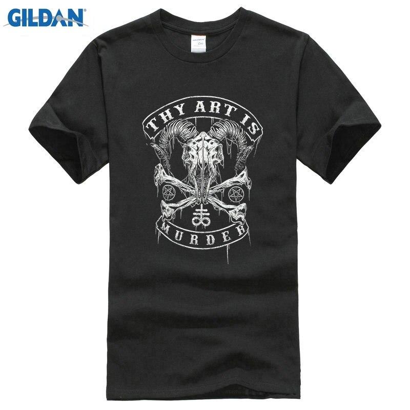3d6bc2469 Tu arte es el asesinato de los hombres de la camiseta del cráneo del  bautismo negro del verano del ...