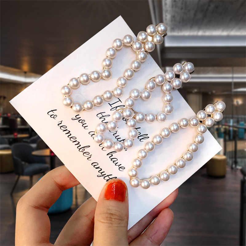 Minimaliste perle mignon lapin épingle à cheveux amour coeur couronne épingle à cheveux Style coréen coiffure de mariée mariage bandeau Barrette Style