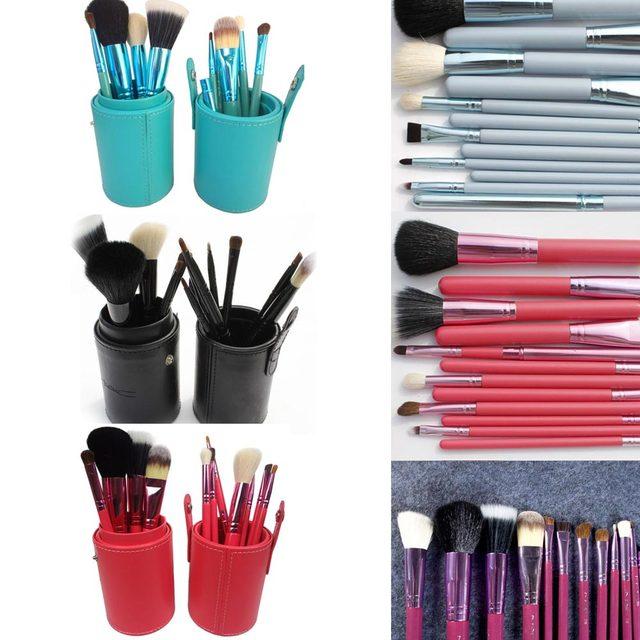 12PCS Makeup/Make up Brush Set Eyebrow Contour Foundation Kabuki Cosmetic MC Brushes de brochas de maquillaje pinceles