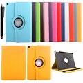 Para Ipad 2 3 4 grau de couro PU inteligente caso suporte Flip 360 Rotating capa de livro com fivela de cinto