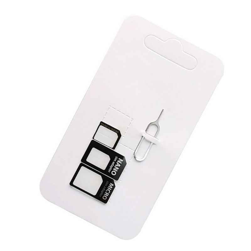 4 in 1 Convert Nano SIM Card to Micro Standard Adapter For iPhone for Samsung 4G LTE USB Wireless Route