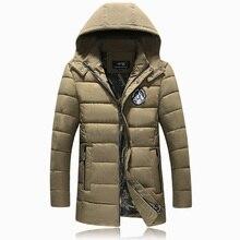 Высокое качество Зимняя Куртка Мужчины толстые хлопка мягкой одежда куртка с капюшоном Плюс Размер Стильный Теплый С Капюшоном Куртка Мужчины Пальто плюс Размер