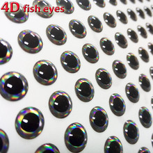 2017new fishing 4d lure eyes multiple levels of color more relistic 3mm-12mm quantity:300pcs/lot