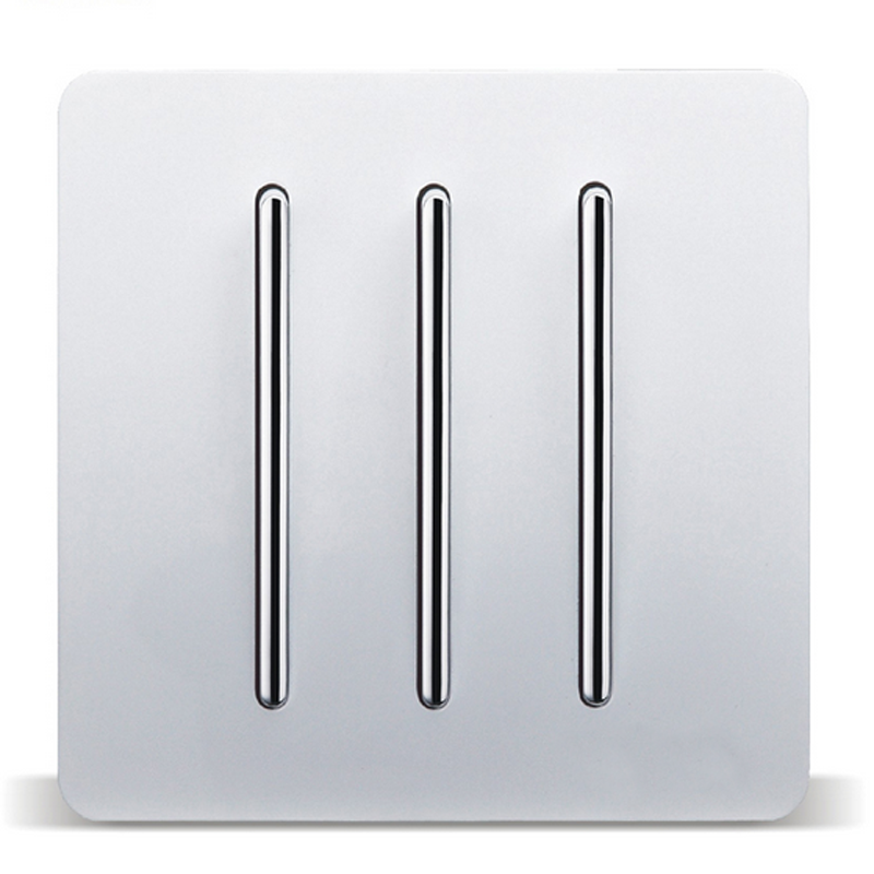 Wall Switch Panel Socket C3 White Three Open Single Control 3 Double Control Switch 86 Triple Bedside Switch scinder switched socket package 15 steel frame two or three five hole electrical outlet wall switch panel switch