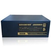 Asic горной машины Питание 1800 W Bitcoin Miner источника ПК компьютер ATX сервер БП для Antminer S7 S9 A6 A7 T9 E9 D3 X3