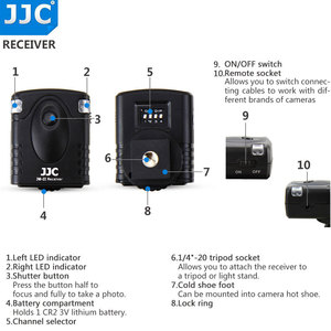 Image 5 - Jjc 카메라 셔터 릴리즈 16 무선 채널 433 mhz rf 무선 원격 컨트롤러 (pentax kp/K 70 용)
