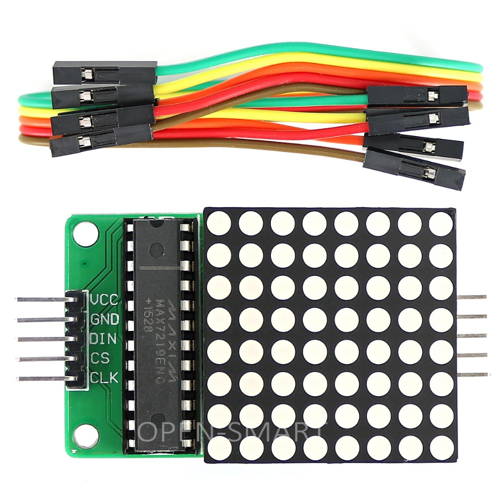 MAX7219 Dot Matrix Module Red LED Display Module MAX7219 Microcontroller Module For Arduino