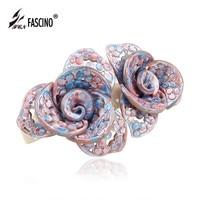 2016 New Women Girls Exquisite Flowers Hair Barrette Clip Luxury Crystal Rhinestones Hair Clip Hairwear Jewelry