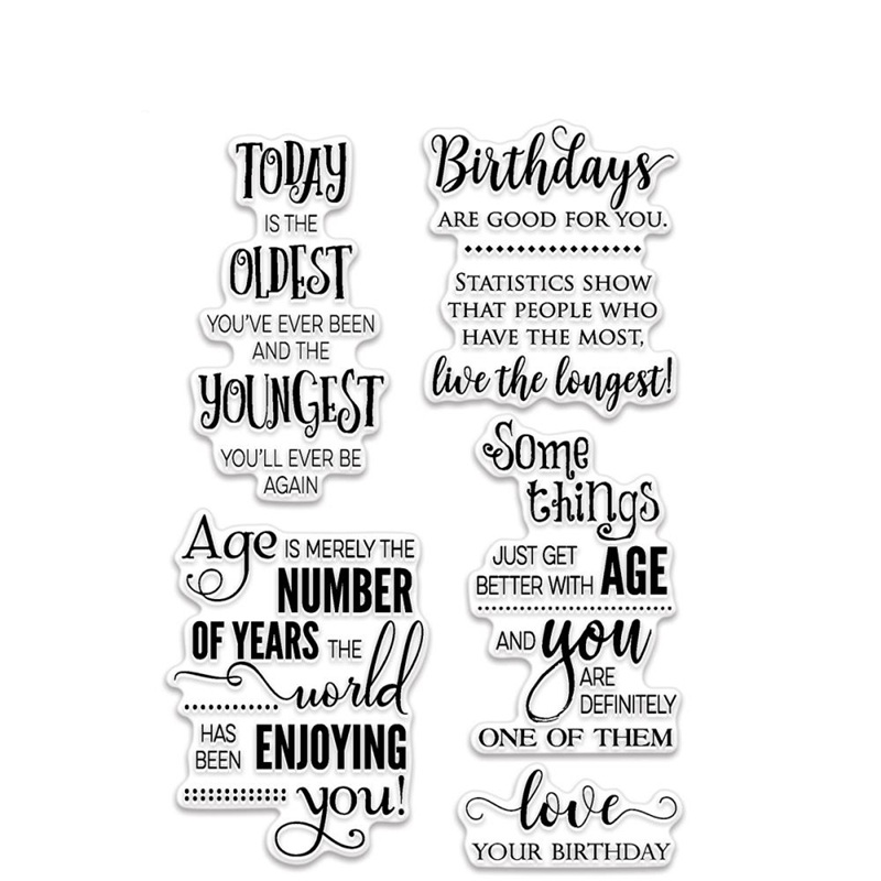 Birthday Love Transparent Clear Silicone Stamp/Seal for DIY scrapbooking/photo album Decorative clear stamp sheets QYZ227
