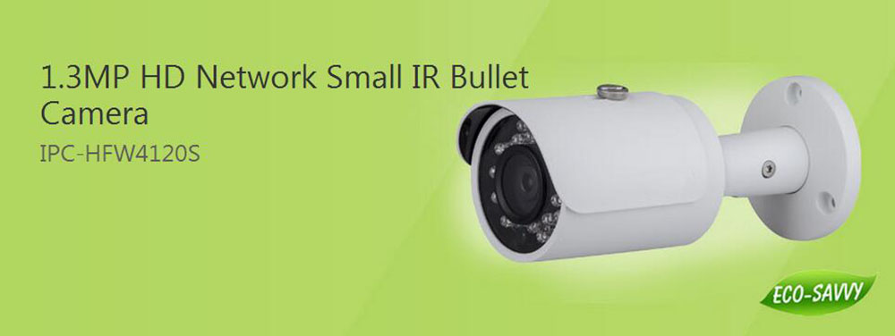 Free Shipping DAHUA 1 3MP Network Small IR Bullet Camera IP67 Original English Version without Logo