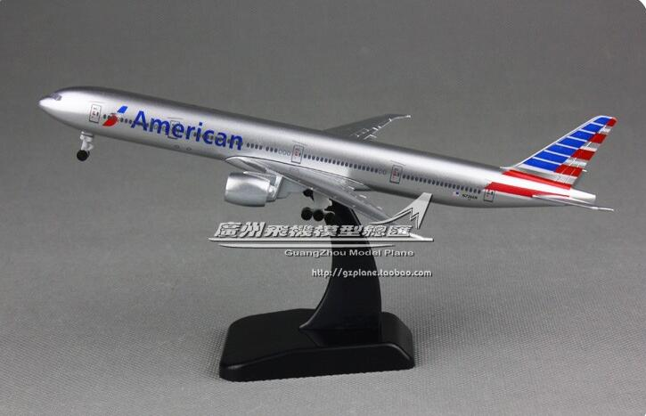 19cm Alloy Metal Air American UNITED 777-300 ER Airlines Airplane Model Airways Plane Model Aircraft Kids Gifts model aircraft
