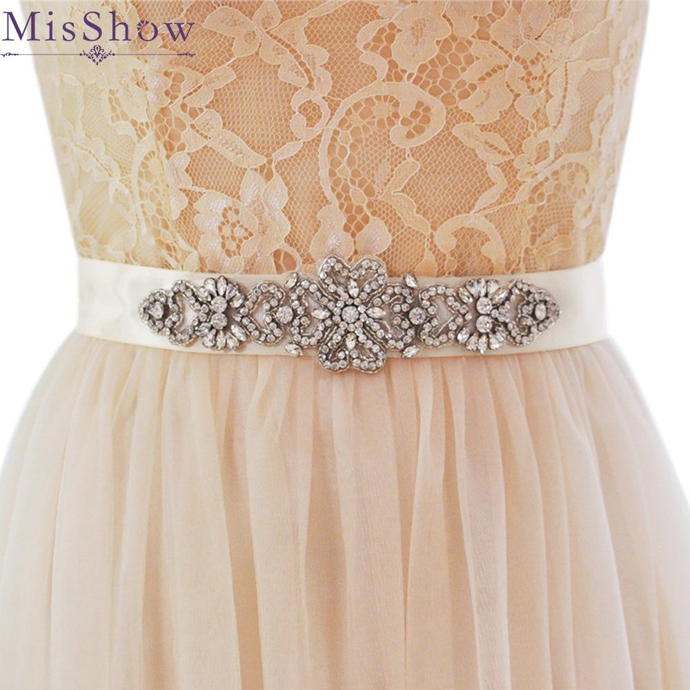 Wedding Gowns With Sashes: Aliexpress.com : Buy Crystal & Rhinestones Wedding Belt