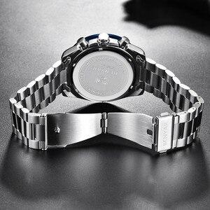 Image 5 - Benyar 2018 novos homens relógio de negócios aço cheio quartzo topo marca luxo esportes à prova dwaterproof água casual masculino relógio pulso relogio masculino