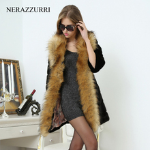 Striped Fur Collar Outwear