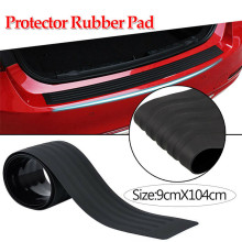 купить ZXMT Universal Black Protective Pad Car Rear Bumper Sill/Protector Plate Rubber Cover Guard Trim Pad High Quality 90CM 104CM онлайн