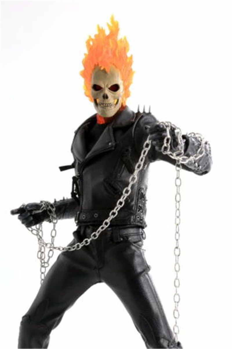 Terror 1/6 Scale Ghost Rider Male Head Sculpts Model Toys For 12 Male Action Figure Accessory 1 6 scale male head sculpts model toys downey jr iron man 3 captain america civil war tony with neck sets mk45 model collecti f