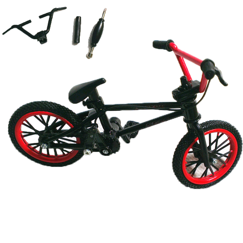 1 Set Black&Red Mini Finger BMX Bicycle Tech Finger Bikes Toys BMX Bicycle Model Bike Gadgets Novelty Gag Toys For Kids Gifts