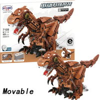 Movable legoingly Dinosaur Technic Animal With Motor Battery Box 424pcs Building Blocks Bricks Enlighten Toys for Children Gift