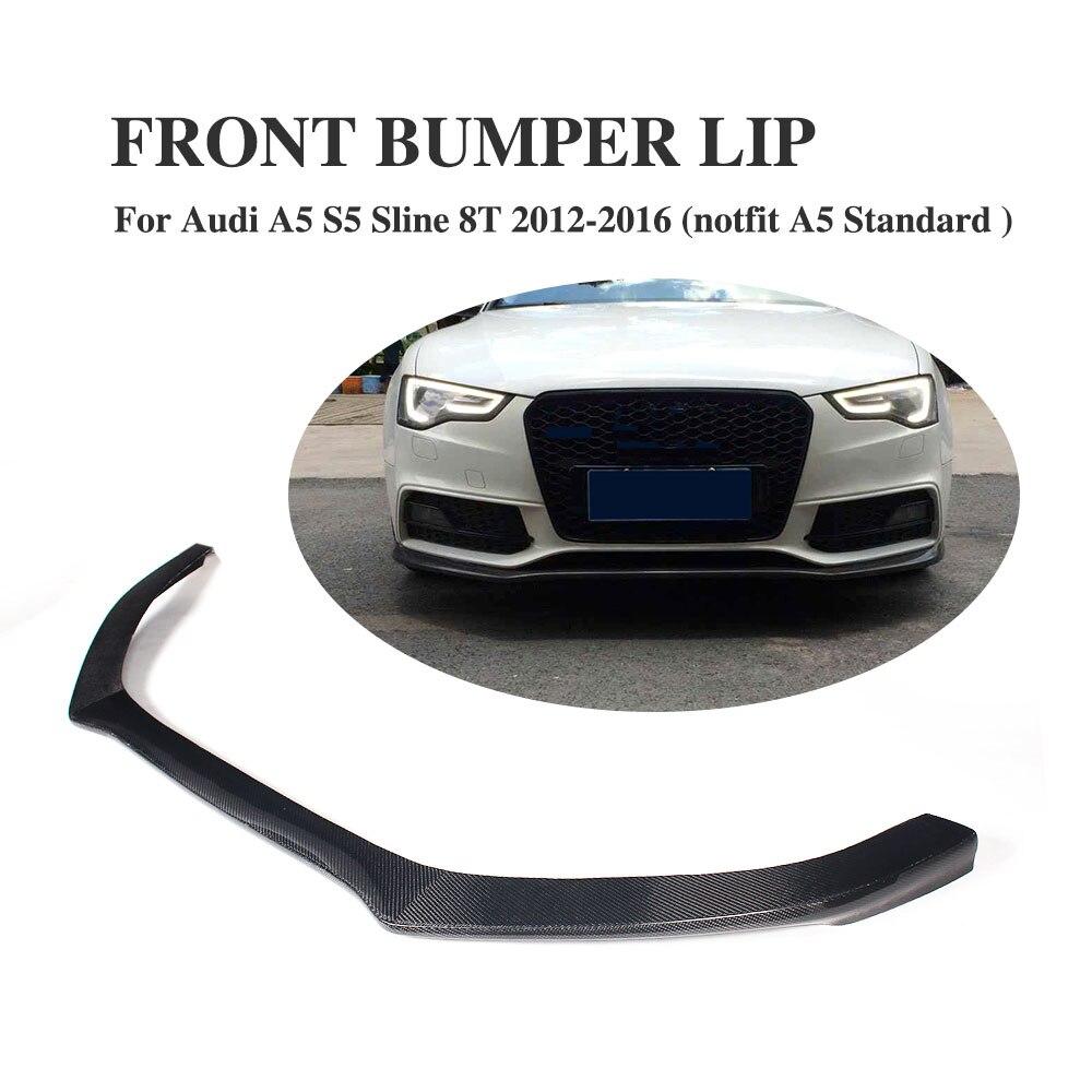 Carbon Fiber Front bumper lip spoiler apron for Audi A5 S5 Bunmper 2012-2016 Car Accessories