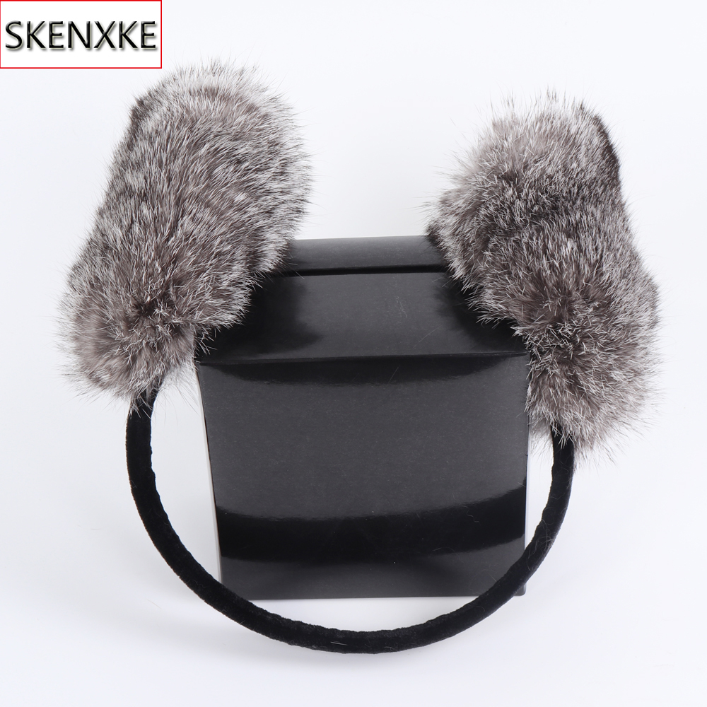 2019 New Style Winter Women Warm Soft Real Rabbit Fur Earmuffs Girl Rabbit Fur Plush Ear Muff Fashion 100% Natural Fur Earlaps