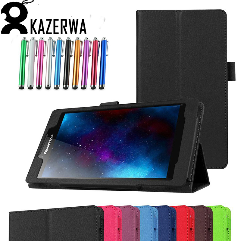 For Lenovo Tab2 A7-20F Tablet Cover 7 inch Fashion Solid Stand Flip Folio for Lenovo Tab2 A7 20 Leather Protective Tablet Case for lenovo tab 2 a7 30 2015 tablet pc protective leather stand flip case cover for lenovo a7 30 screen protector stylus pen