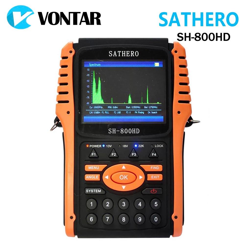Original Sathero SH-800HD Digital Satellite DVB-S2 Finder Meter USB2.0 HD Output Satfinder HD with Spectrum Analyzer dvb s2 sathero sh 900hd satellite meter finder cctv in hd spectrum analyzer coaxial digital monitoring test function vs sh 910